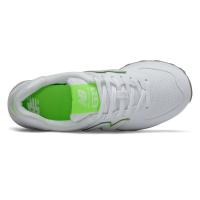 Кроссовки New Balance 574 белые с зеленым