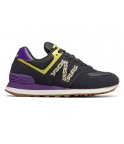 Кроссовки New Balance 574 черные с фиолетовым
