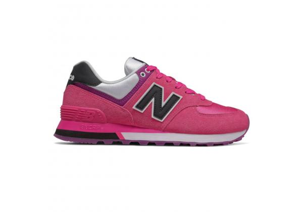 Кроссовки New Balance 574 розовые с фиолетовым