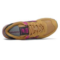 Кроссовки New Balance 574 коричневые с розовым