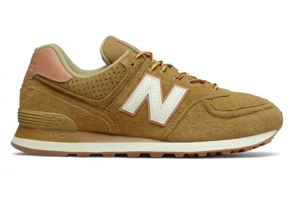 Кроссовки New Balance 574 замшевые коричневые