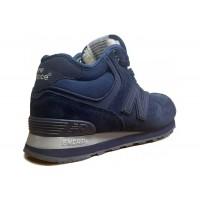 Кроссовки New Balance 574 замшевые синие