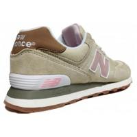 Кроссовки New Balance 574 бежевые с розовым