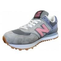 Кроссовки New Balance 574 серо-розовые с голубым