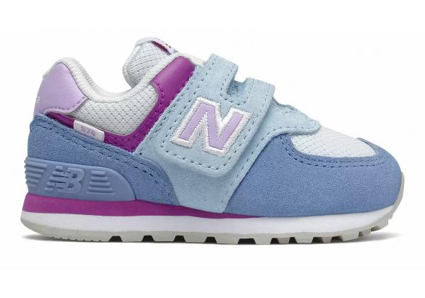 Детские кроссовки New Balance 574 Hook and Loop голубые