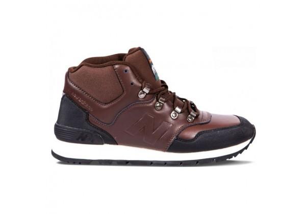 New Balance 574 Mid темно-коричневые кожаные