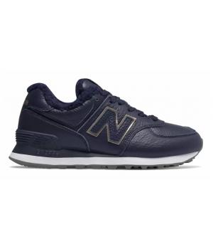 Кроссовки New Balance 574 Classic Синие кожаные