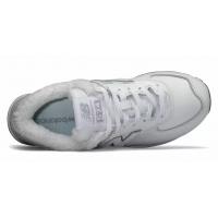 Кроссовки New Balance 574 Classic кожаные с мехом белые