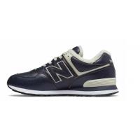 Кроссовки New Balance 574 кожаные темно-синие