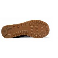 Кроссовки New Balance 574 Classic кожаные черно-коричневые