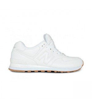 Кроссовки New Balance 574 Classic Белые кожаные