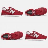 New Balance 574 Красно-белые