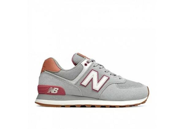 Кроссовки New Balance 574 серый с красным