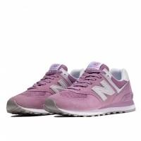 Кроссовки New Balance 574 фиолетовые с белым