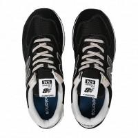 Кроссовки New Balance 574 Classic с белой подошвой черные