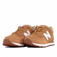 Кроссовки New Balance 574 Classic коричневые с розовым