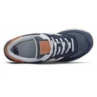 Кроссовки New Balance 574 синие с коричневым