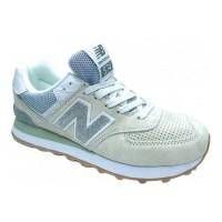 Кроссовки New Balance 574 Classic зеленые с голубым