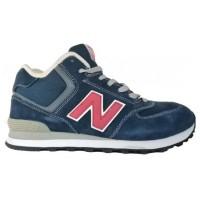 New Balance 574 высокие Сине-красные
