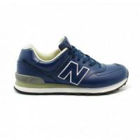 Кроссовки New Balance 574 Синие кожаные