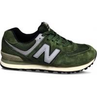 Кроссовки New Balance 574 Classic Зеленые с серым