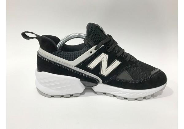Кроссовки New Balance 574 Classic замшевые черно-белые