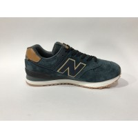 Кроссовки New Balance 574 Classic  черно-коричневые
