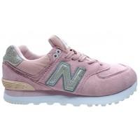 Кроссовки New Balance 574 женские серо-розовые