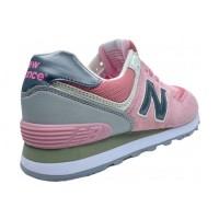 Кроссовки New Balance 574 Classic Розовые с темно-серым
