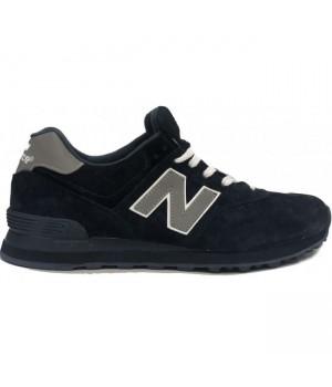 Кроссовки New Balance 574 черные замшевые