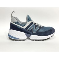 Кроссовки New Balance 574 Classic Белые сине-голубые