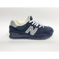 Кроссовки New Balance 574 Classic синие с серым