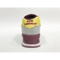Кроссовки New Balance 574 Classic бордовые с желтым
