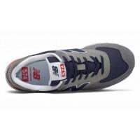 Кроссовки New Balance 574 мужские серые с синим