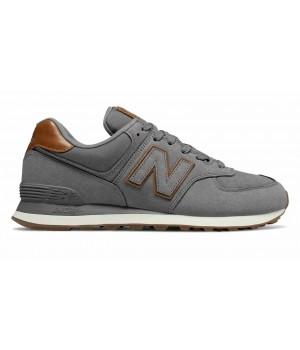 Кроссовки New Balance 574 мужские серо-коричневые