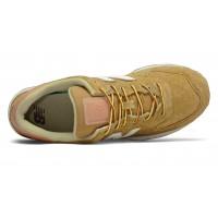 Кроссовки New Balance 574 мужские коричнево-белые