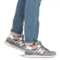 Кроссовки New Balance 574 мужские серо-белые