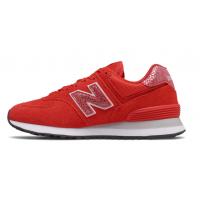 Кроссовки New Balance 574 Animal Print красные
