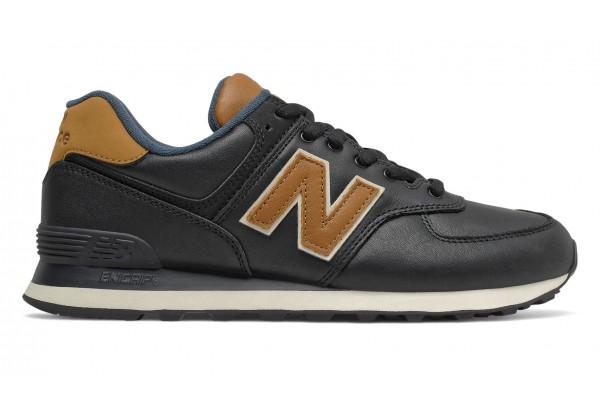 New Balance 574 Classic черные с коричневым