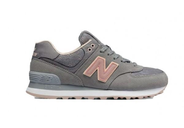 Кроссовки New Balance 574 Серо-розовые