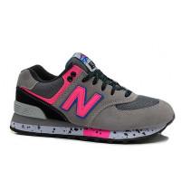 Кроссовки New Balance 574 Classic Серо-розовые