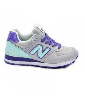 Кроссовки New Balance 574 Сlassic Серо-фиолетовые