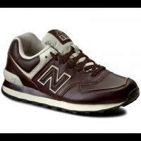 Кроссовки New Balance 574 Classic Коричневые кожаные