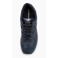 Кроссовки New Balance 574 Classic Темно-синие кожаные