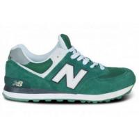 New Balance 574 Зелено-белые