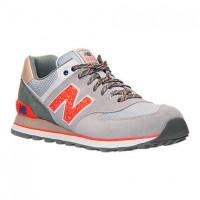 Кроссовки New Balance 574 Серо-оранжевые