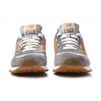 Кроссовки New Balance 574 Classic Серо-оранжевые